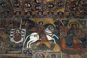 St George Slaying Dragon and Madonna and Child, Detail, Fresco, Debre Birhan Selassie