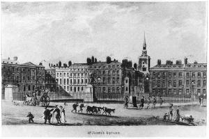 St James's Square, London, C18th Century
