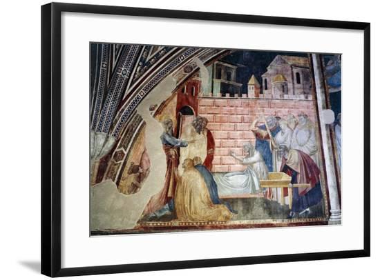 St. John Evangelist Resuscitating Drusiana-Taddeo Gaddi-Framed Giclee Print