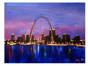 St Louis Arch Gateyway At Sunset by M Bleichner