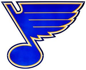 St. Louis Blues Lasercut Steel Logo Sign