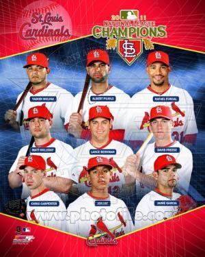 St. Louis Cardinals 2011 National League Champions Composite