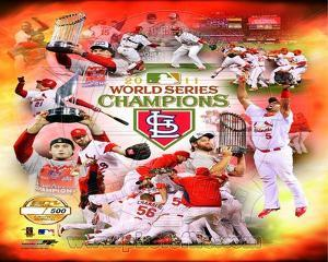 St. Louis Cardinals 2011 World Series Champions PF Gold Composite