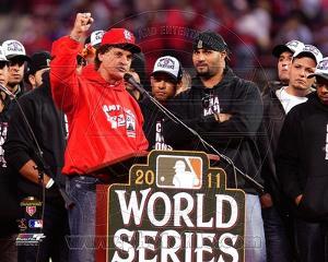St Louis Cardinals - Albert Pujols, Tony La Russa Photo