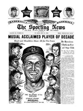 St. Louis Cardinals All-Star Stan Musial - July 11, 1956