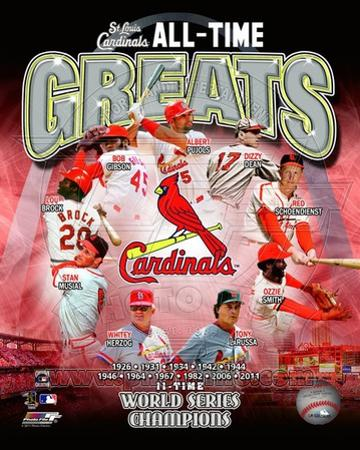 St. Louis Cardinals All Time Greats Composite