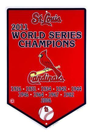St. Louis Cardinals Banner Tin Sign