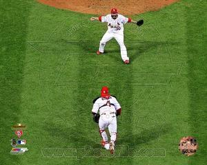 St Louis Cardinals - Yadier Molina, Jason Motte Photo