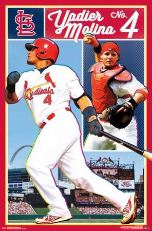 St. Louis Cardinals- Yadier Molina No. 4