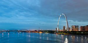 St. Louis Gateway Arch at Dusk
