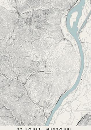 St Louis Topographical Print