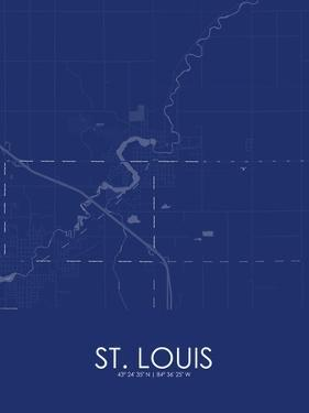 St. Louis, United States of America Blue Map
