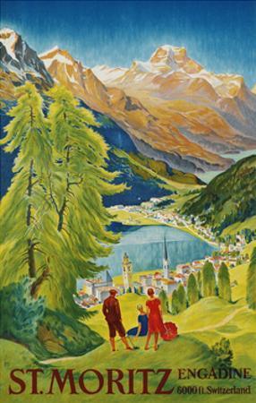 St. Moritz Poster by Carl Moos