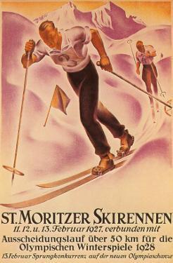 St. Moritz Ski Run, 1928
