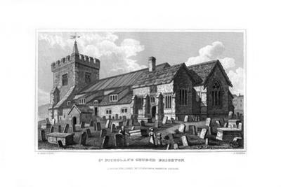 St Nicholas's Church, Brighton, East Sussex, 1829 by J Rogers
