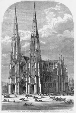 St. Patrick's Cathedral, Fifth Avenue, between Fiftieth and Fifty-First Streets, New York.