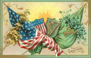 St. Patrick's Day, U.S. and Irish Flags