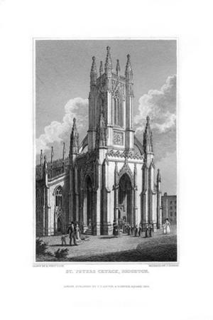 St Peter's Church, Brighton, East Sussex, 1829 by J Rogers