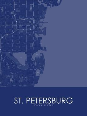 St. Petersburg, United States of America Blue Map
