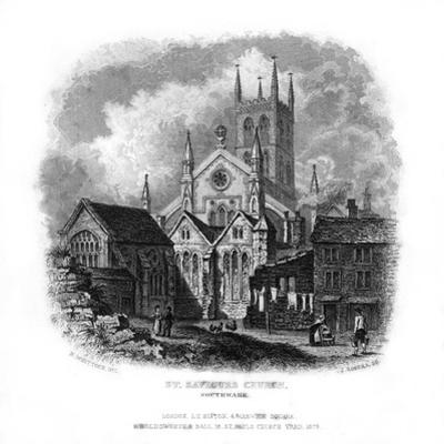 St Saviours Church, Southwark, London, 1829 by J Rogers