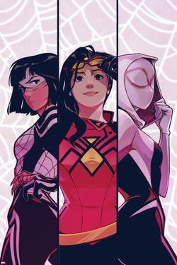 Spider-Women Alpha No. 1 Cover Featuring Silk, Spider Woman, Spider-Gwen by Stacey Lee