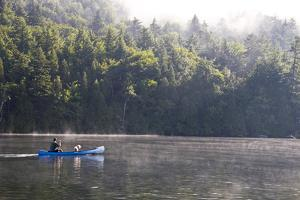 A Serene Canoe Ride in the Early Morning Hour on Lake Placid by Stacy Gold