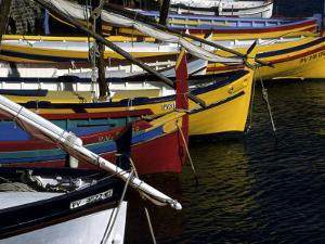 Boats in the Harbor of Collioure, France, Collioure, France, Europe by Stacy Gold