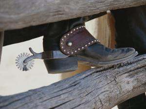 Close View of a Cowboy Boot, Complete with Silver Spur by Stacy Gold