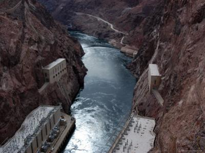 Hoover Dam's Power Substations Along the Colorado River by Stacy Gold