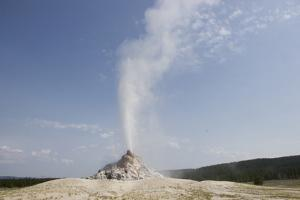 Steamboat Geyser Erupts in Midway Geyser Basin by Stacy Gold