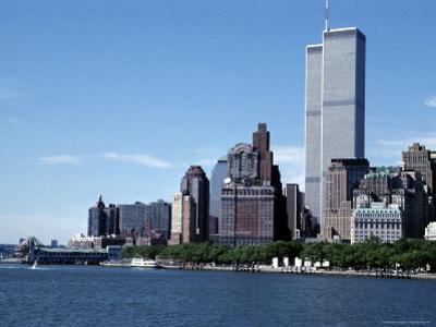 The New York City Skyline Before September 11, 2001, Manhattan, New York City, NY, United States by Stacy Gold