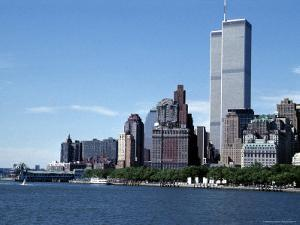 The New York City Skyline Before September 11, 2001, Manhattan, New York City, NY, United States by Stacy Gold