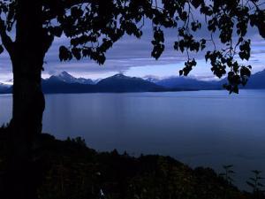 The Sun Reflects over Kachemak Bay, Alaska by Stacy Gold