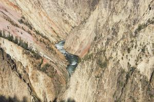 View of the Yellowstone River Flowing Through a Steep Canyon by Stacy Gold