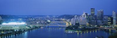 Stadium Lit Up at Night, Three Rivers Stadium, Pittsburgh, Pennsylvania, USA