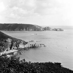 Moulin Huet Bay and Jerbourg Point on the Island of Guernsey 1965 by Staff