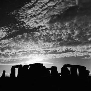 Sunset over Stonehenge by Staff