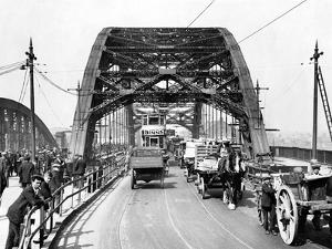 Wearmouth Bridge in Sunderland in the 1930s by Staff