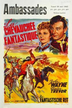 Stagecoach, Belgian Movie Poster, 1939