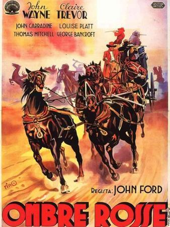 Stagecoach, Italian Movie Poster, 1939