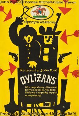 Stagecoach, Polish Movie Poster, 1939