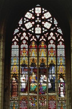 Stained Glass Window of Cathedral of St Michael and St Gudula Cathedral