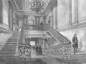 Staircase in Northumberland House, 1897