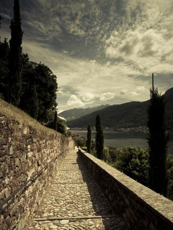 Staircase Leading Towards a Church, Chiesa Santa Maria Del Sasso, Morcote, Lake Lugano, Ticino, ...