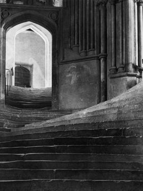 Stairway in Wells Cathedral, England