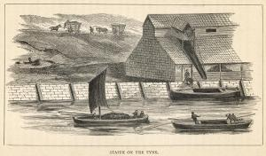 Staith from Which Coal is Being Transferred onto Barges on the River Tyne North-East England