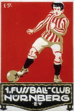 Stamp from Football Club Nuremberg, 1912
