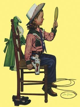 Cowgirl, 1951 by Stan Ekman