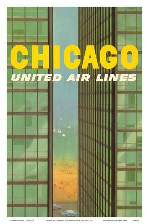 Chicago, USA - Lake Shore Drive - United Air Lines
