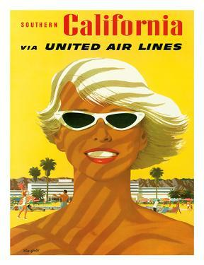 Fly United Air Lines: Southern California, c.1955 by Stan Galli
